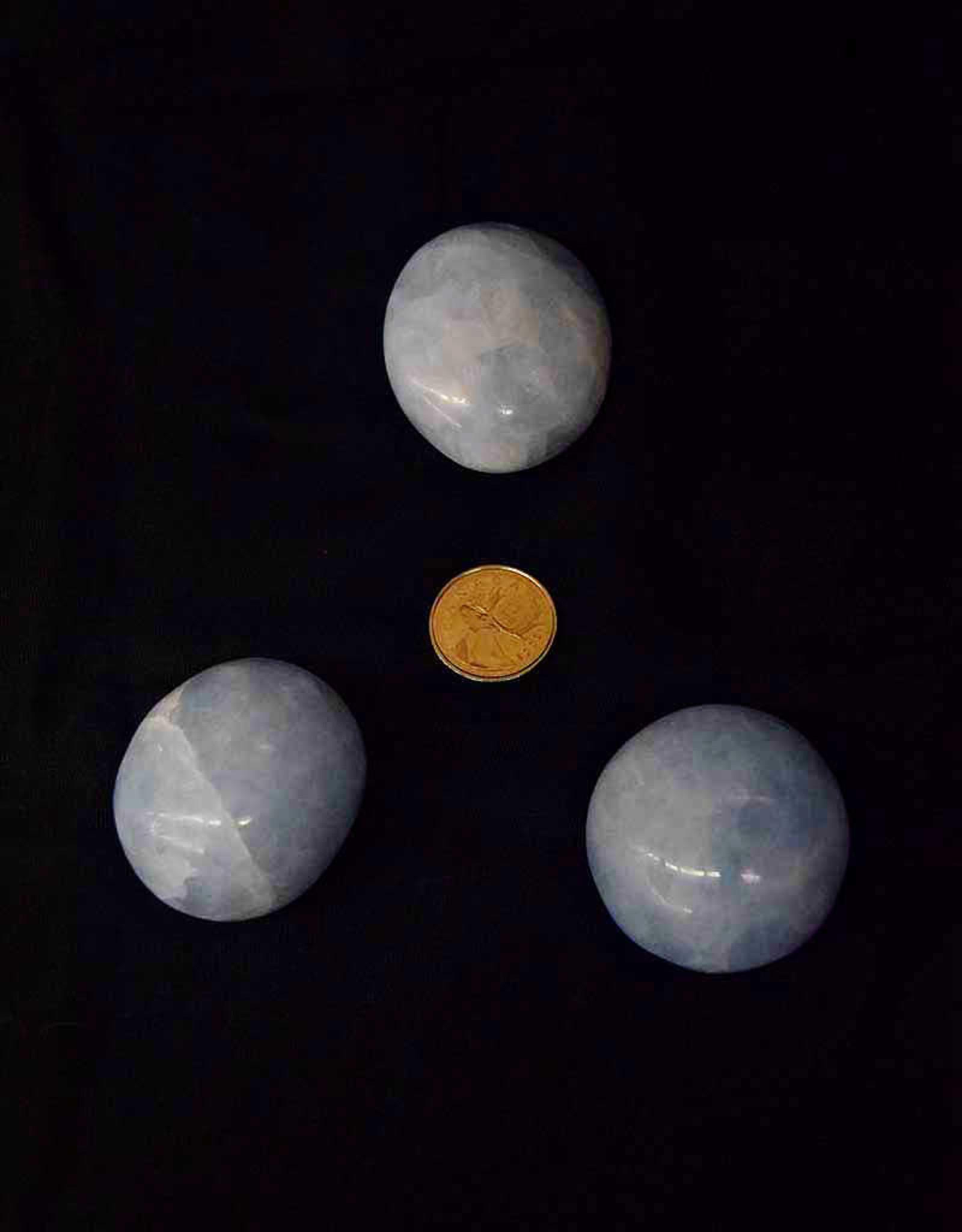 Blue Calcite Palm Stone $13