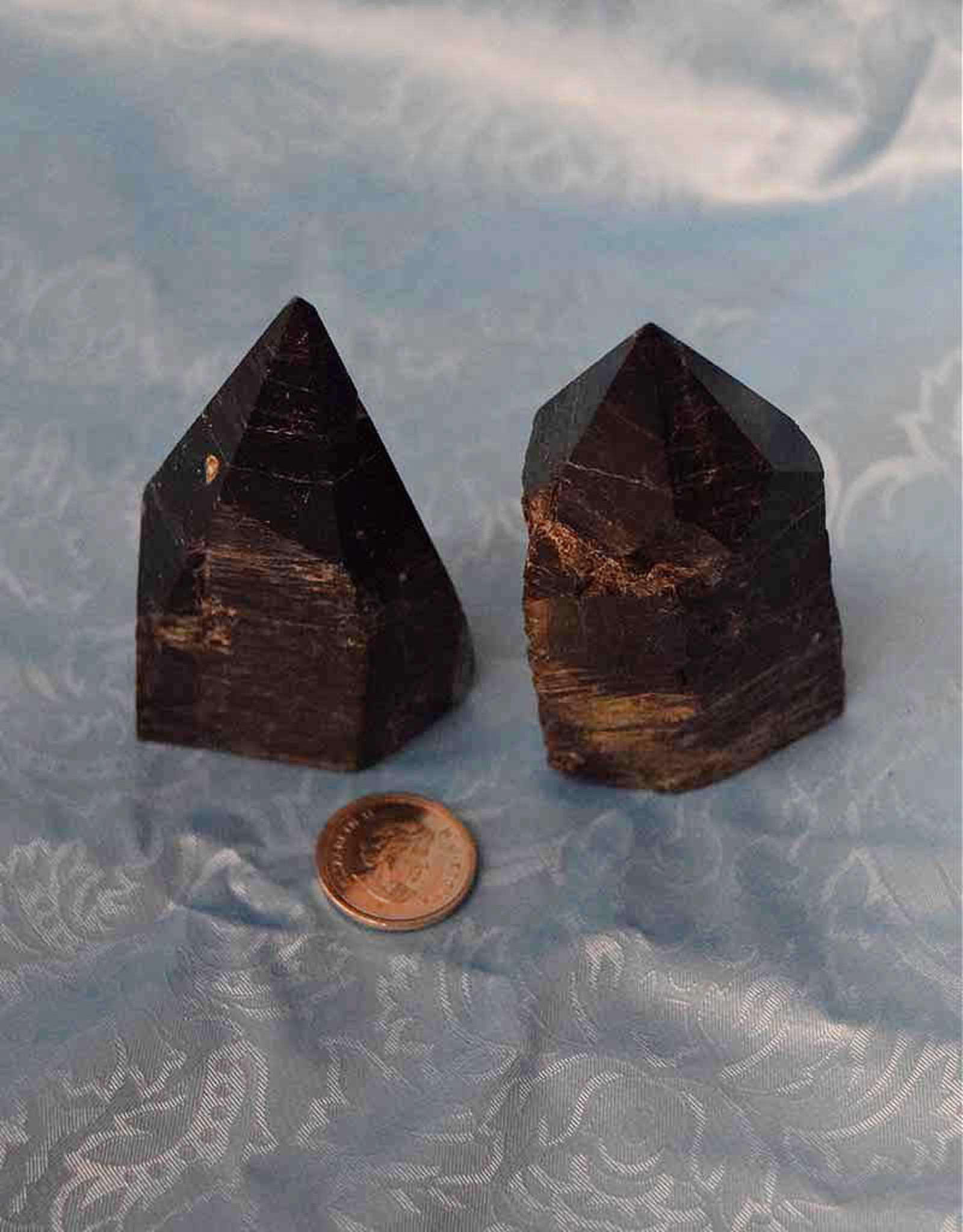 Black Tourmaline Polished Points $28