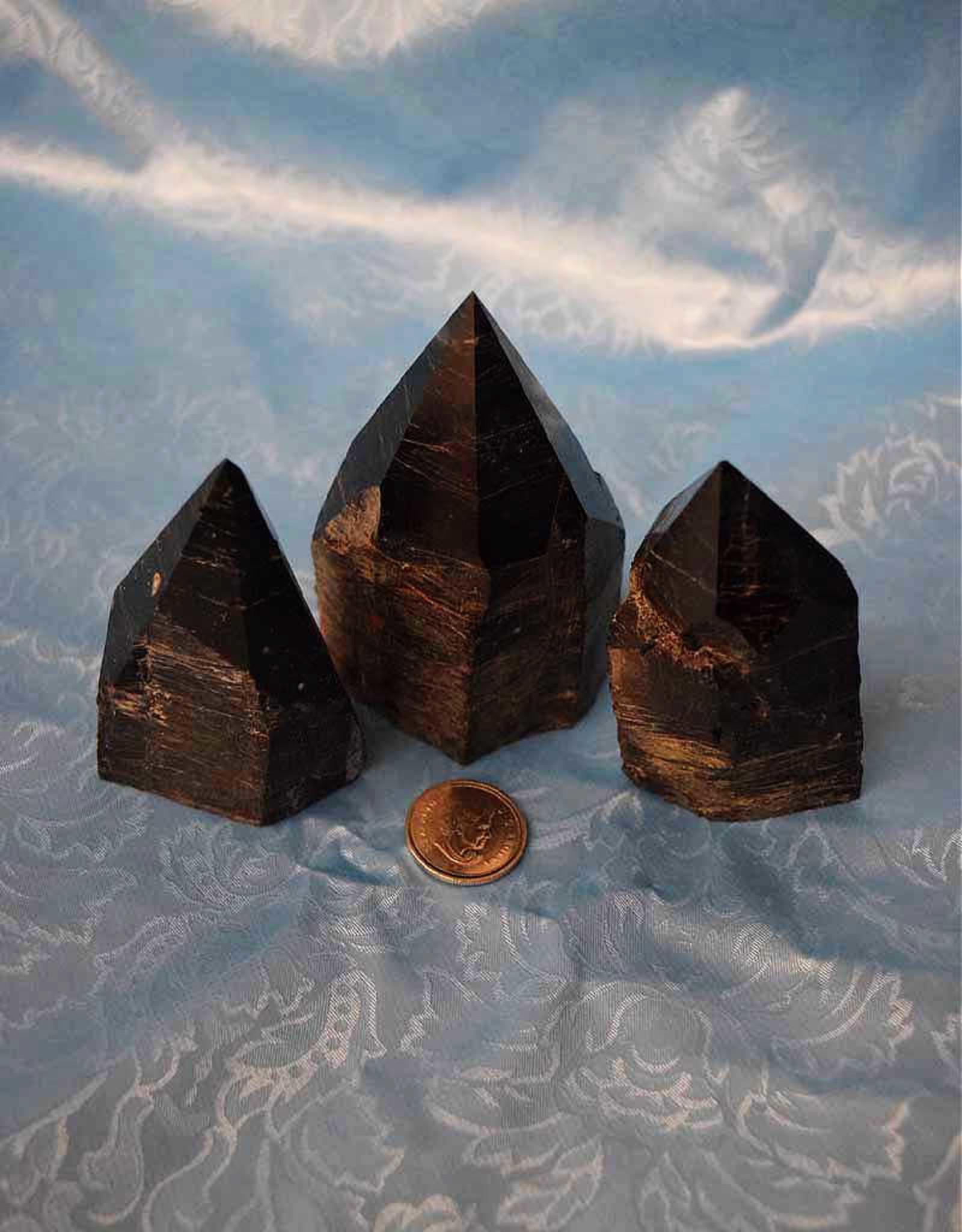 Black Tourmaline Polished Point $46