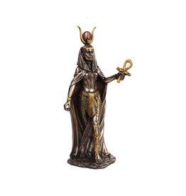 "Pacific Trading Hathor Bronze Statue 11"""