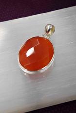 Carnelian C Sterling Silver Pendant