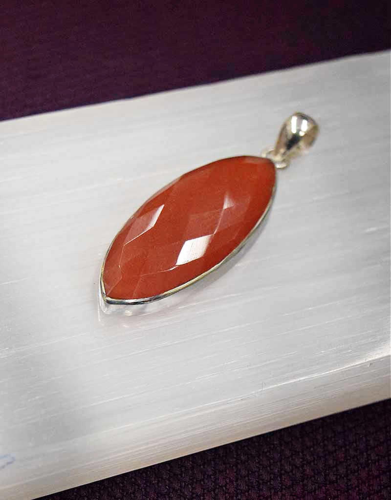 Carnelian A Sterling Silver Pendant