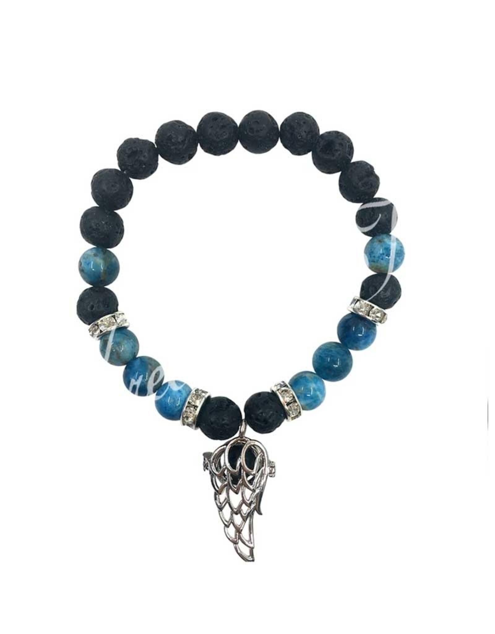 Aromatherapy Bracelet Apatite & Lava