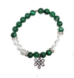 Malachite Clear Quartz Bracelet Celtic Knot