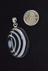 Banded Onyx Pendant A Sterling Silver