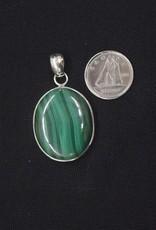 Malachite Pendant E Sterling Silver