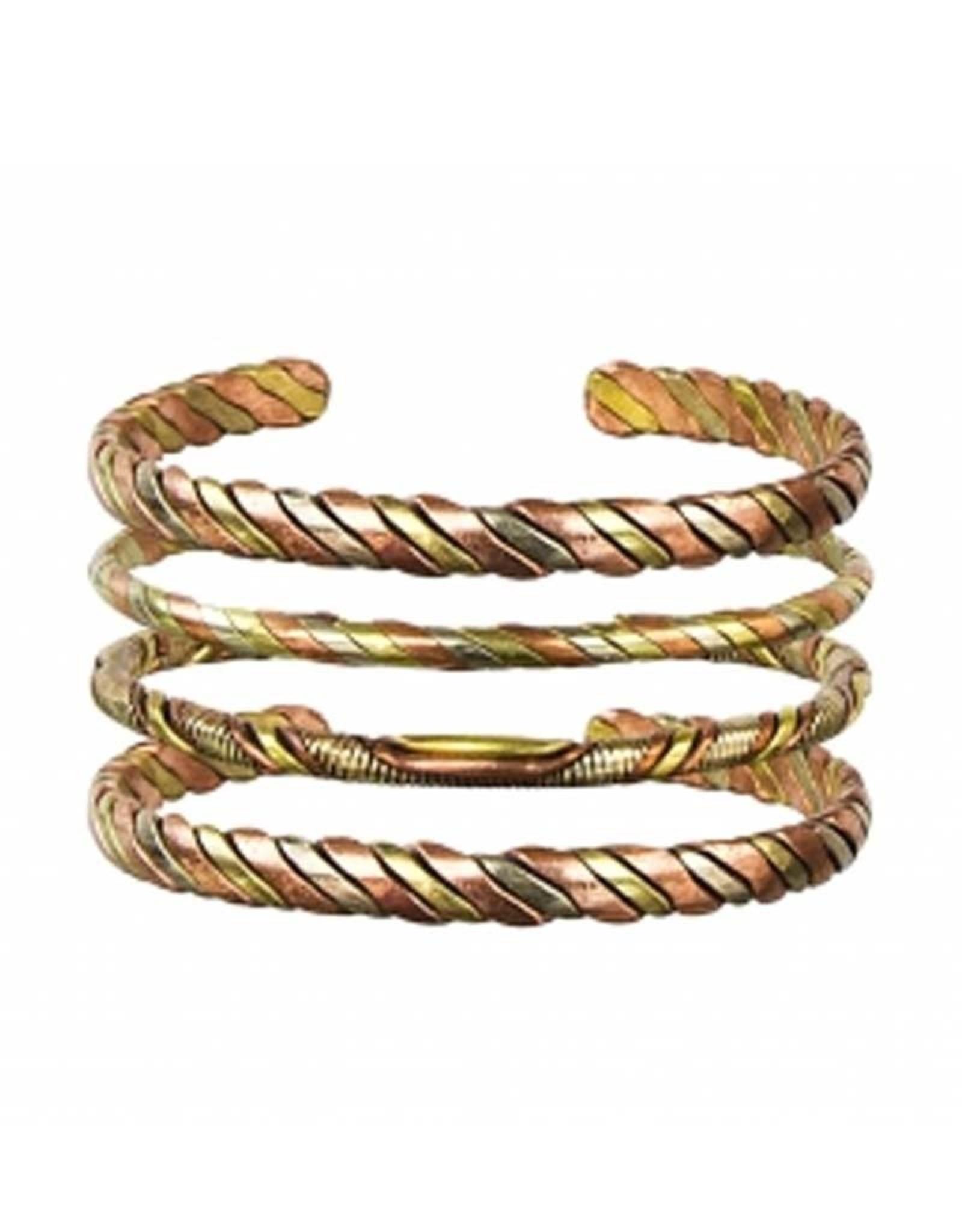 3 Metals Intertwined Bracelet