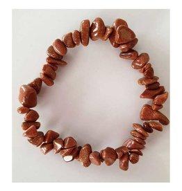 Goldstone - Chip Bracelet