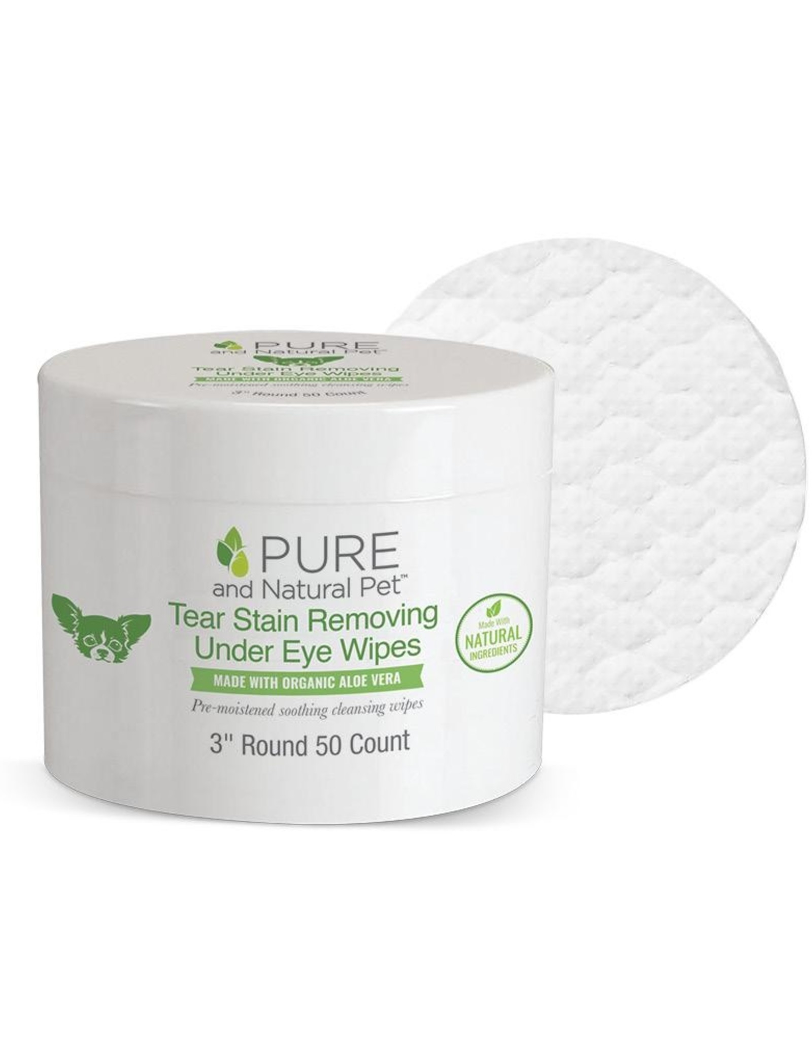 Pure and Natural Pet Tear Stain Removing Under Eye Wipes