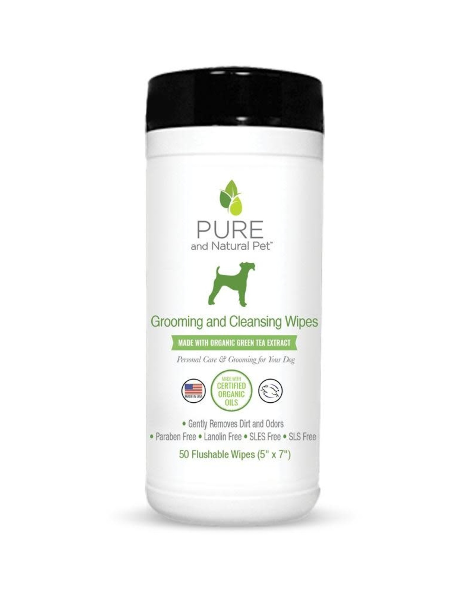 Pure and Natural Pet Grooming and Cleansing Wipes