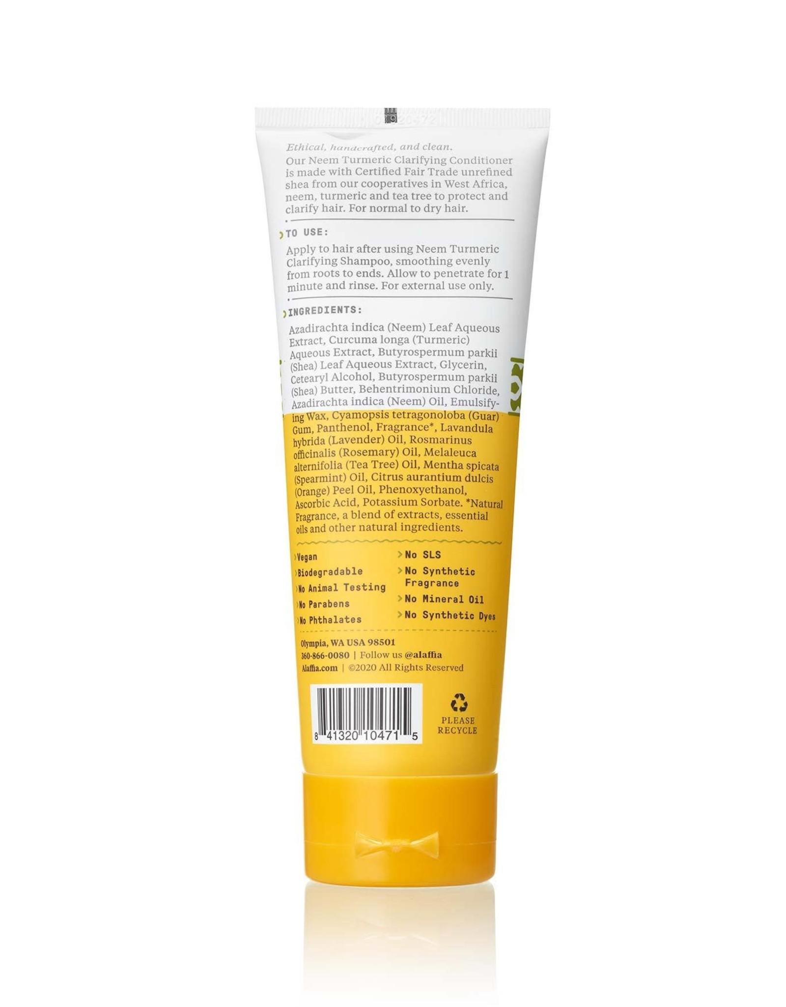 Alaffia Neem Turmeric Clarifying Shampoo, Natural Mint