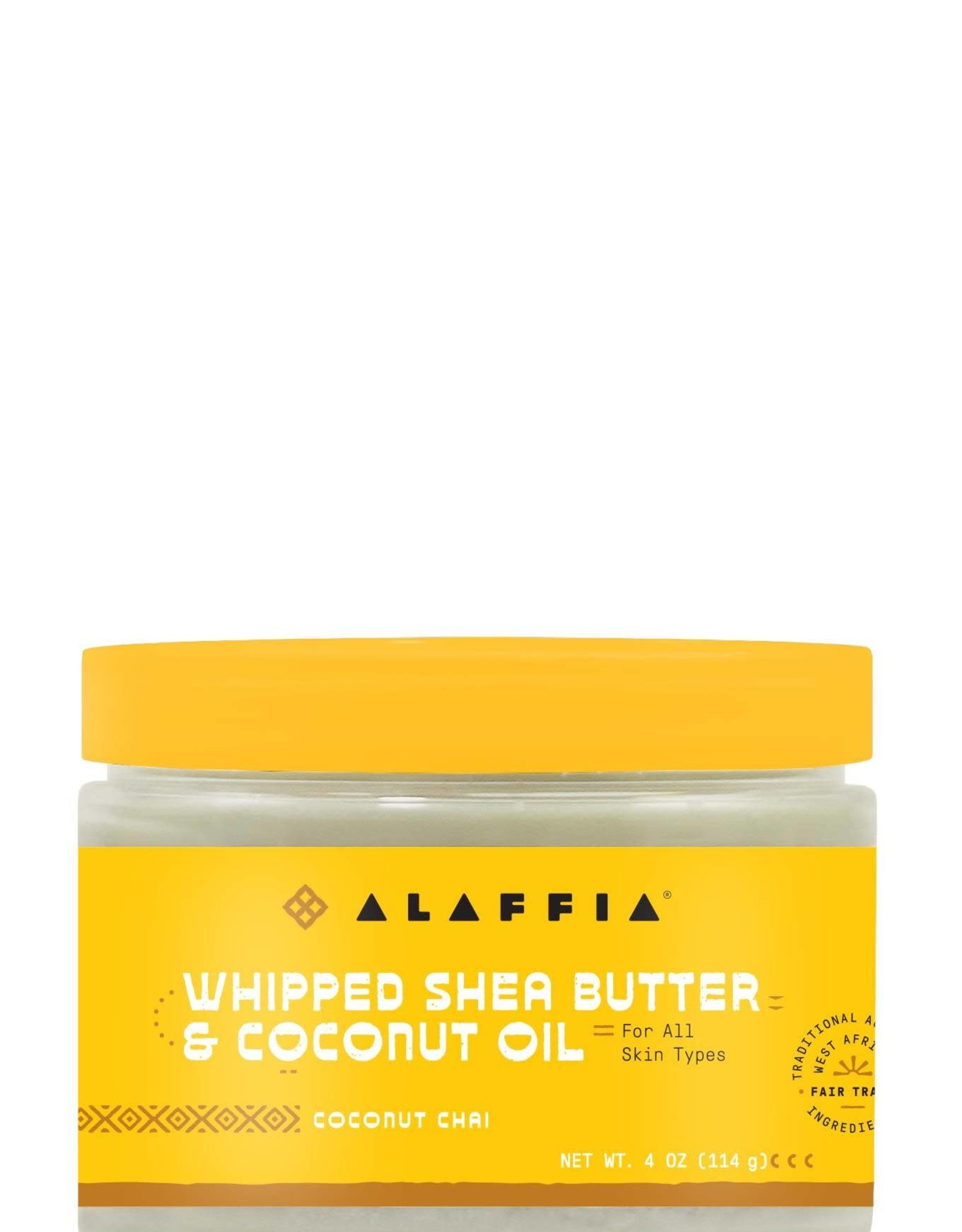 Alaffia Whipped Shea Butter and Coconut Oil  Coconut Chai 4 oz
