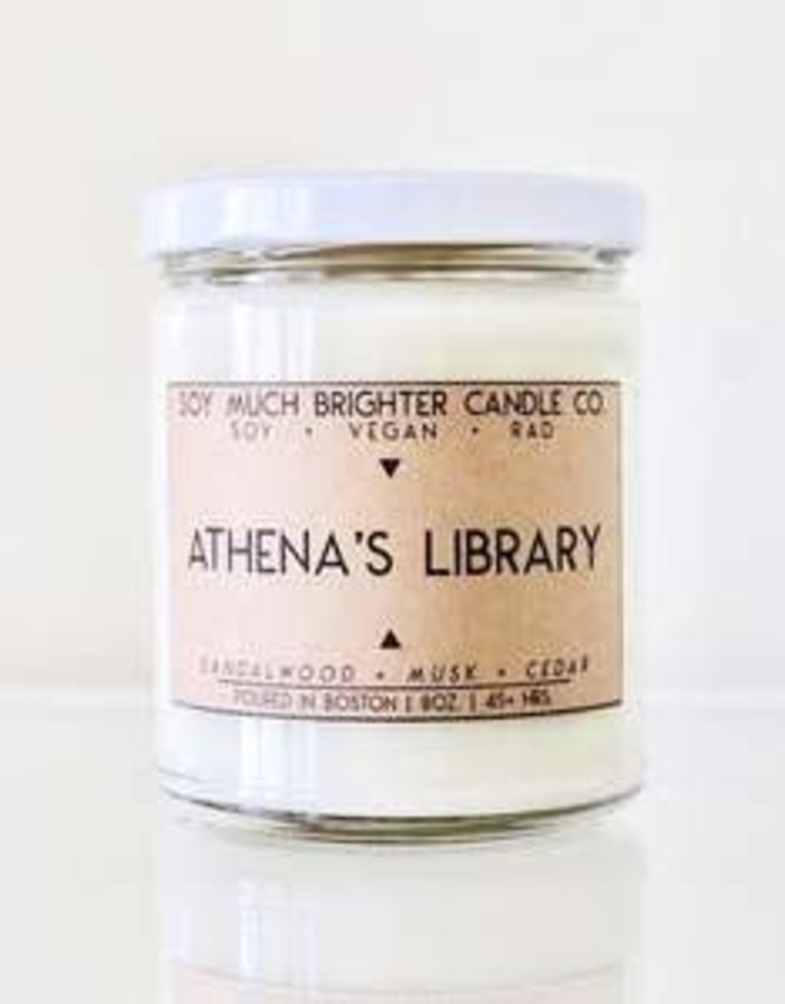 Soy Much Brighter Soy Much Brighter Candle  Athena's Library 8oz