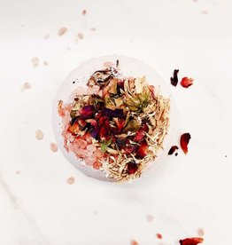 Butter Me Up Organic Bath Bomb with Flowers and Crystals