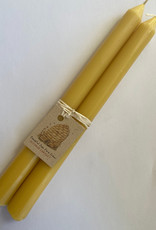 """Beeswax Taper Candles 10"""""""