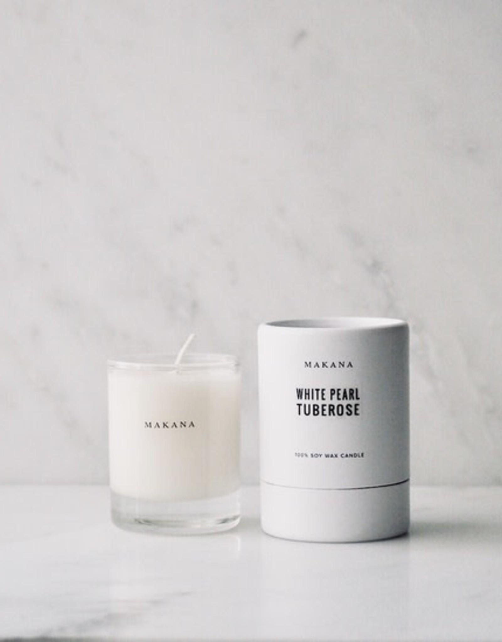 makana White Pearl Tuberose- Petit Candle 3