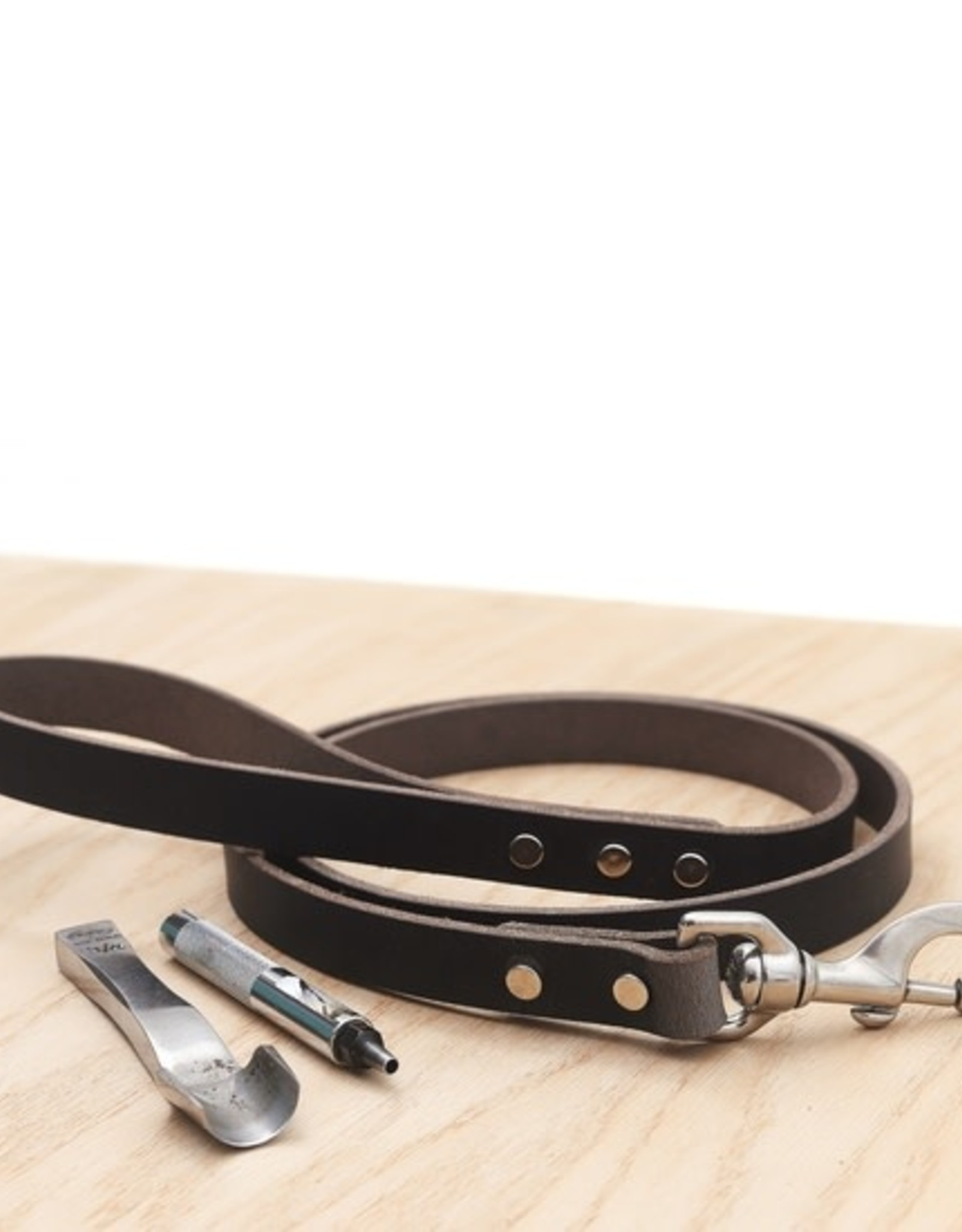 Mimi Green Leather Dog Leashes