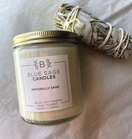 Blue Sage Candle Naturally Sage