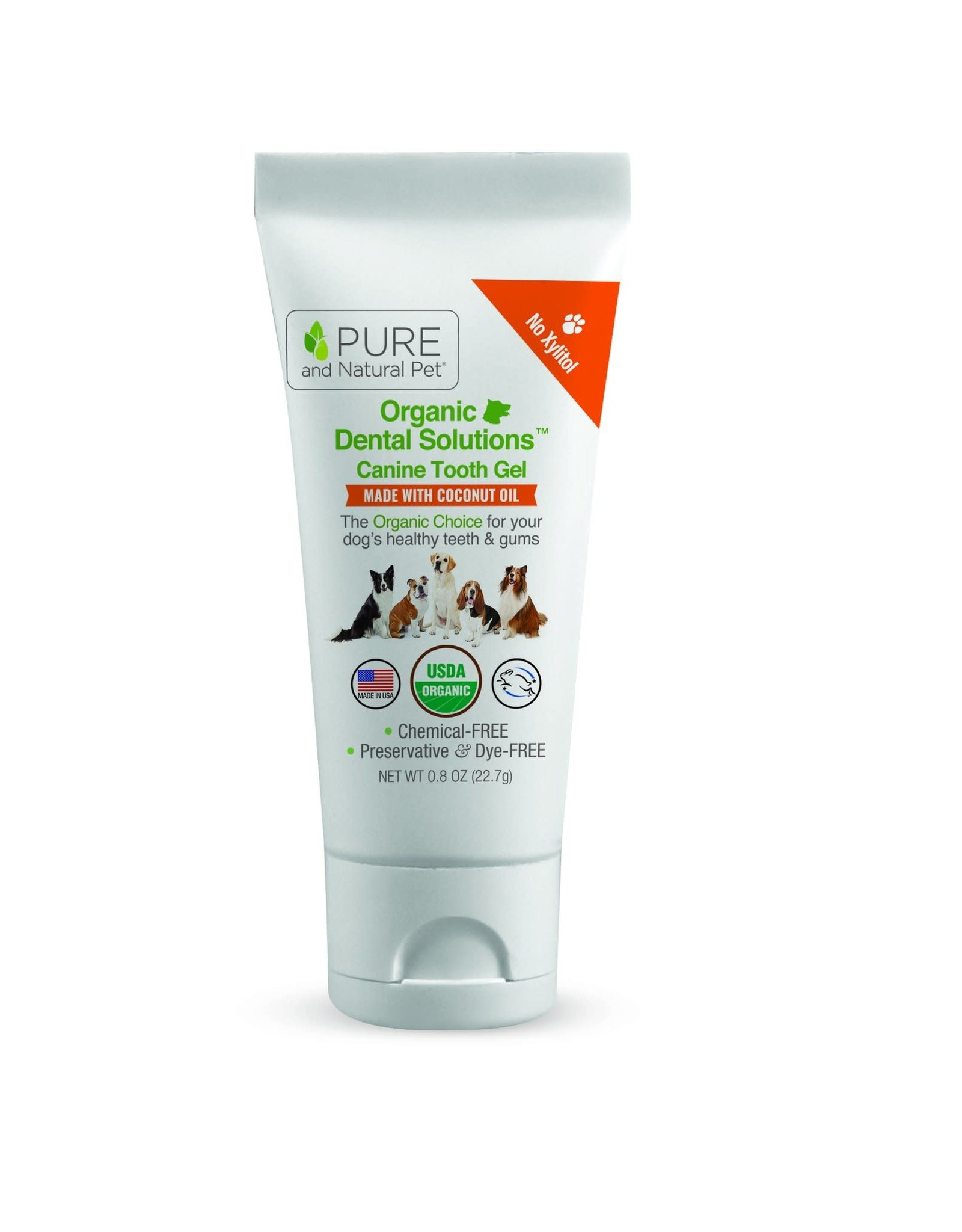 Pure and Natural Pet Canine ToothGel and Toothbrush
