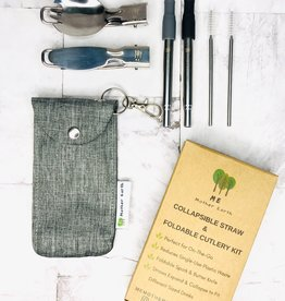 Collapsible Straw and Cutlery Set