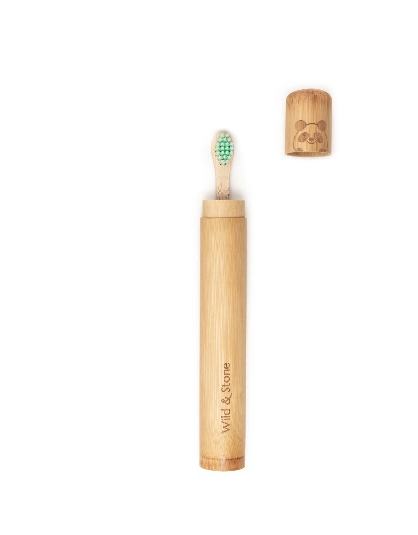 Wild & Stone Children's Bamboo Toothbrush Case