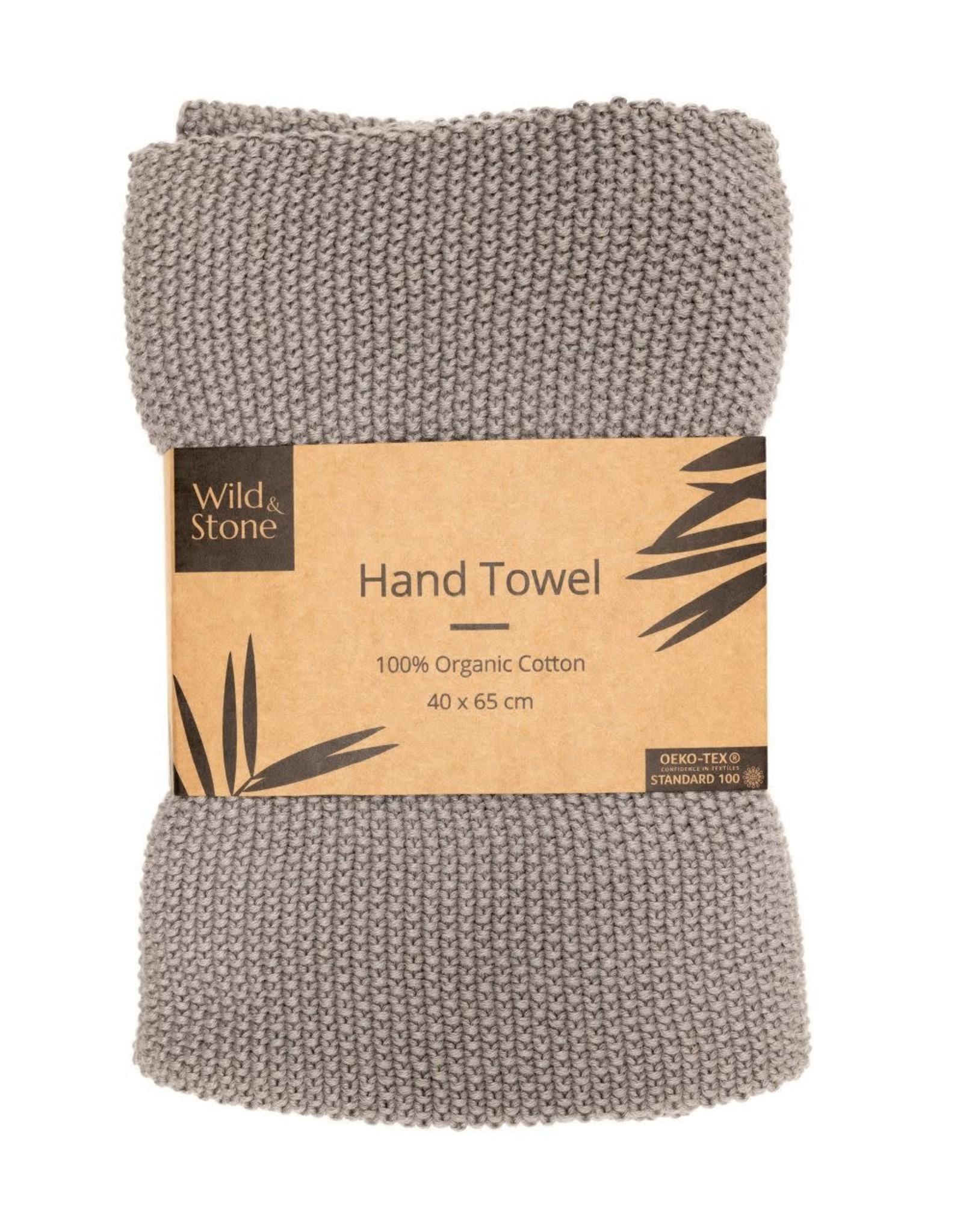 Wild & Stone Hand Towel Light Grey