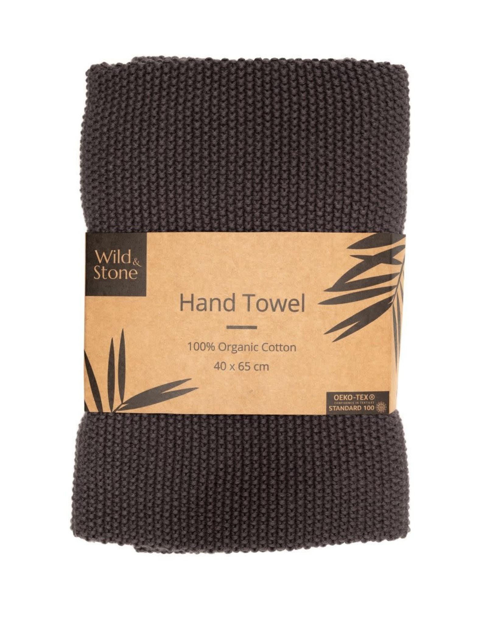 Wild & Stone Hand Towel  Dark Grey