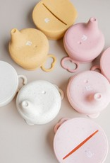 Three Hearts Modern Silicone Snack and Sippy Lids Set
