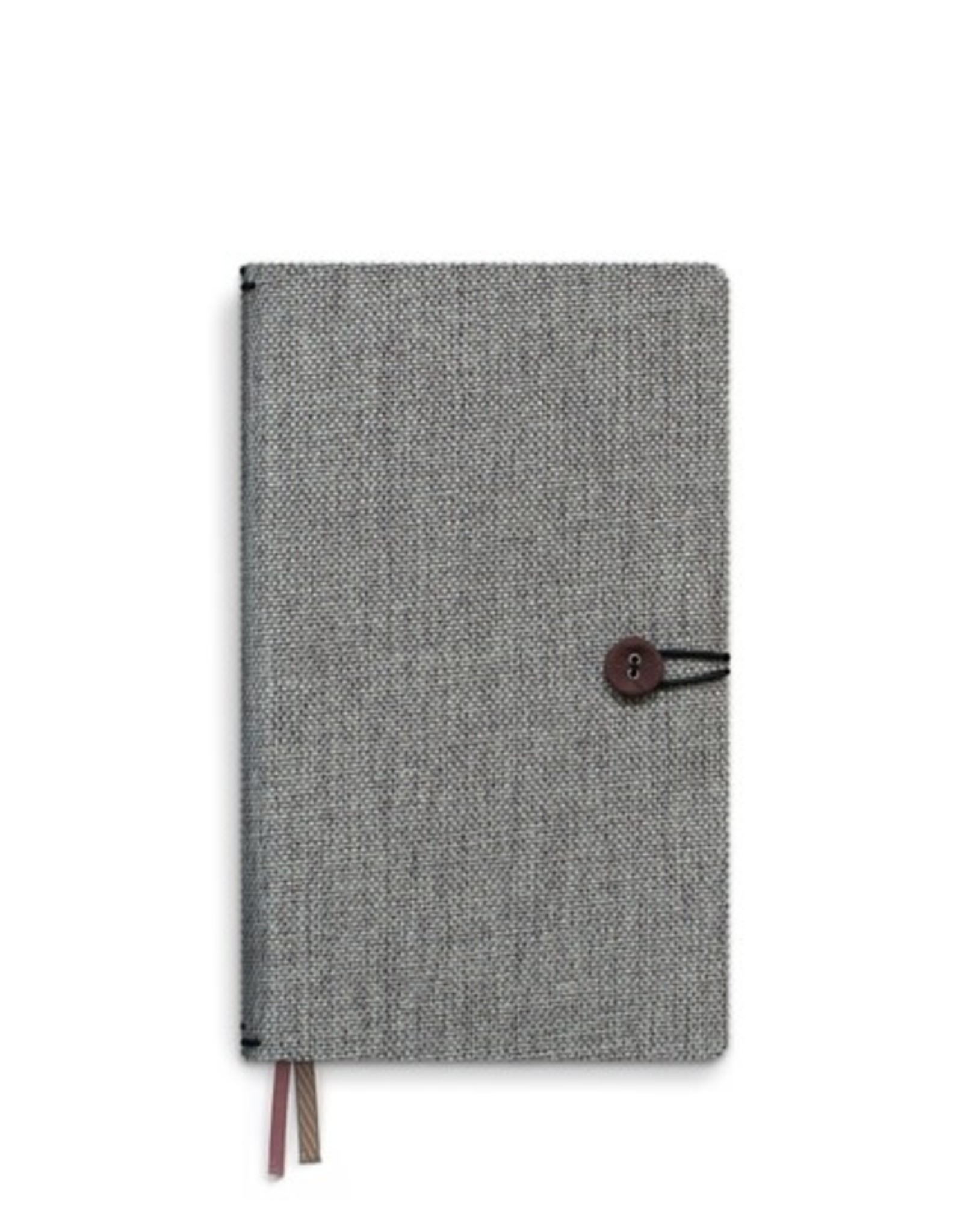Notebook with button / Moss Agate