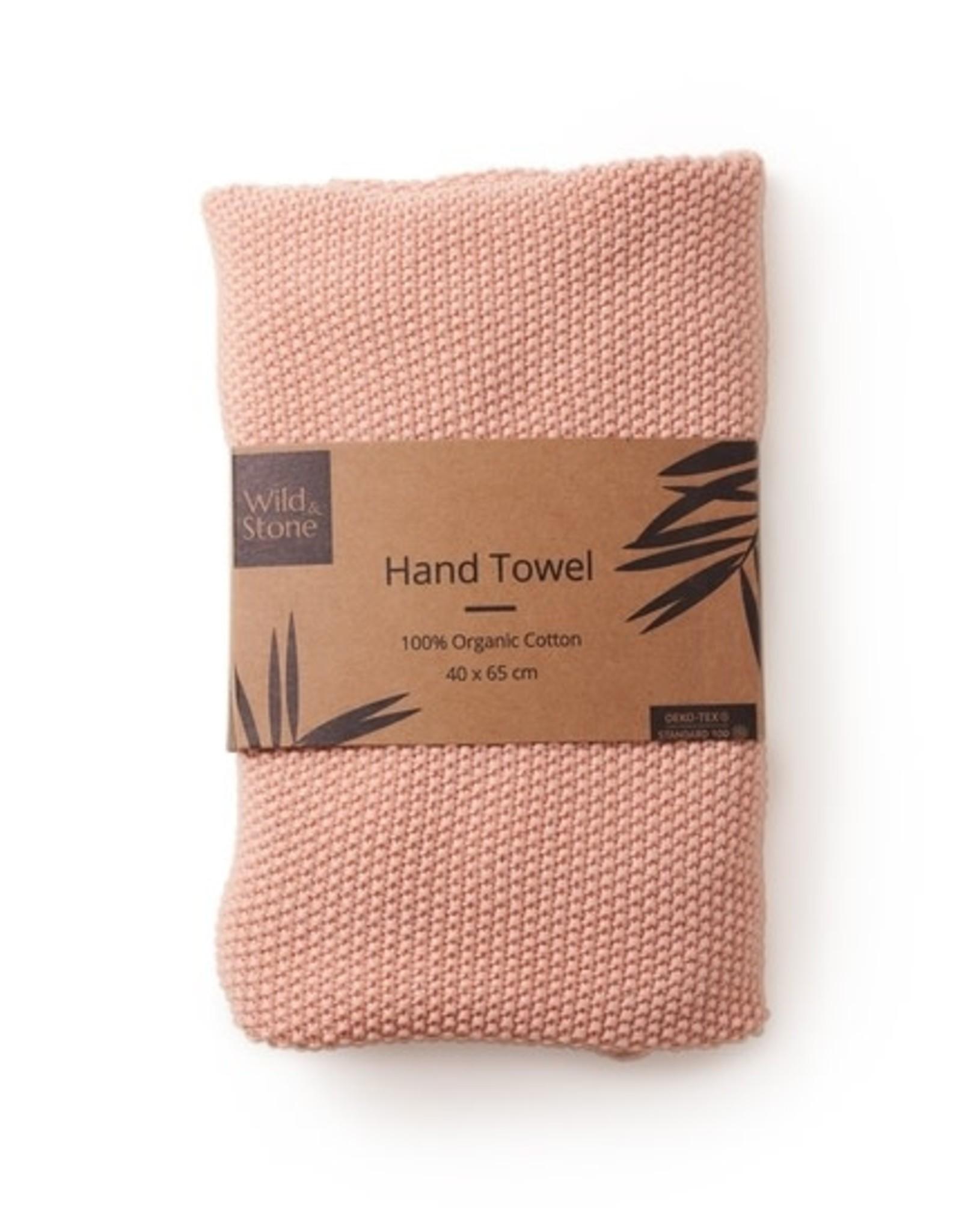 Wild & Stone Organic Cotton Hand Towel Dusty Rose