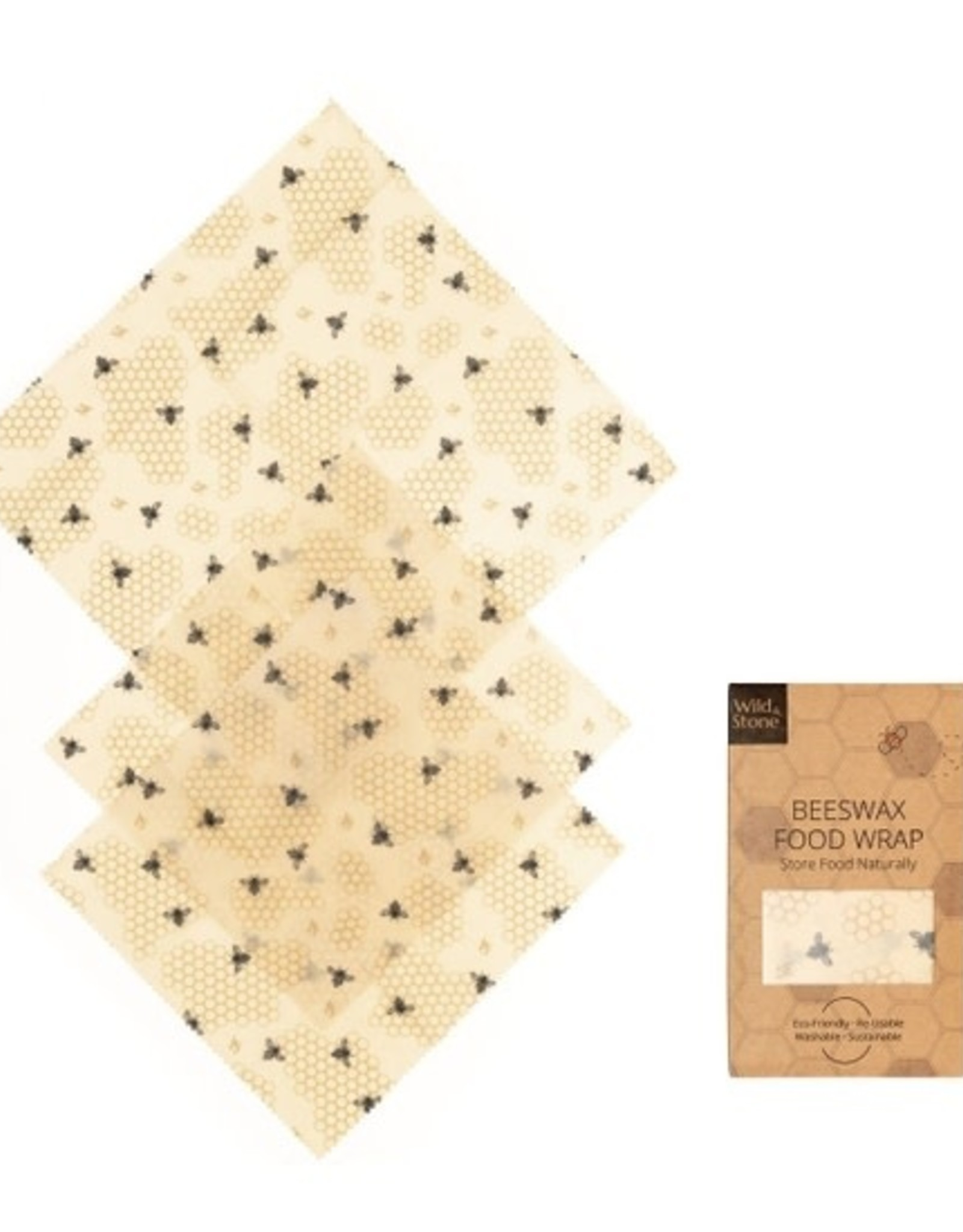 Wild & Stone Natural Beeswax Food Wraps ( 3 pack)