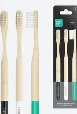 Goodwell 3 Piece Set Bamboo Toothbrush