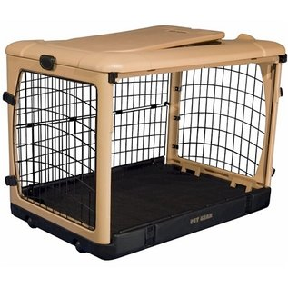 Pet Gear Deluxe Steel Dog Crate With Pad - Large
