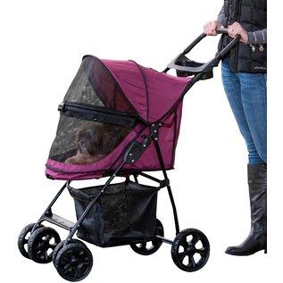 Pet Gear Happy Trails Lite NO-ZIP Pet Stroller - Boysenberry