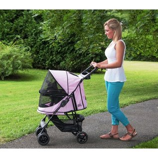 Pet Gear Happy Trails No-Zip Pet Stroller - Pink Diamond