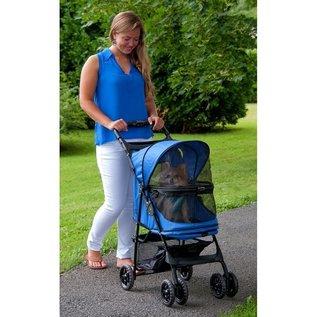 Pet Gear Happy Trails No-Zip Pet Stroller - Sapphire