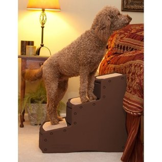 Pet Gear Easy Step III Extra Wide Pet Stairs - Chocolate