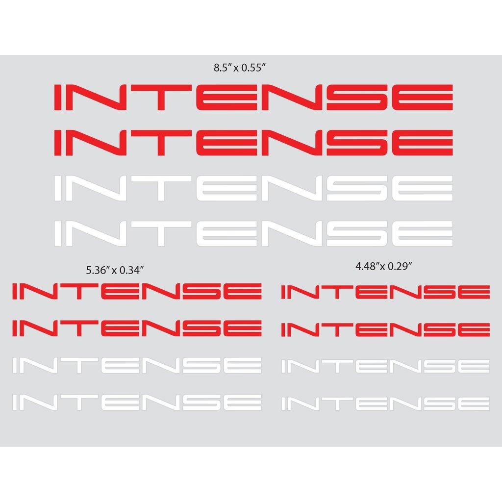 Intense Cycles Intense Logo Decal Sheet