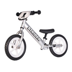 """STRIDER Strider 12"""" Pro Balance Bike Silver"""