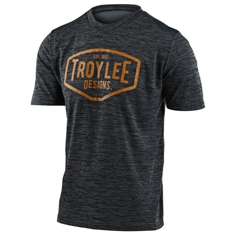 Troy Lee Designs Troy Lee Designs Flow Line SS Jersey Station Heather Black/Yellow