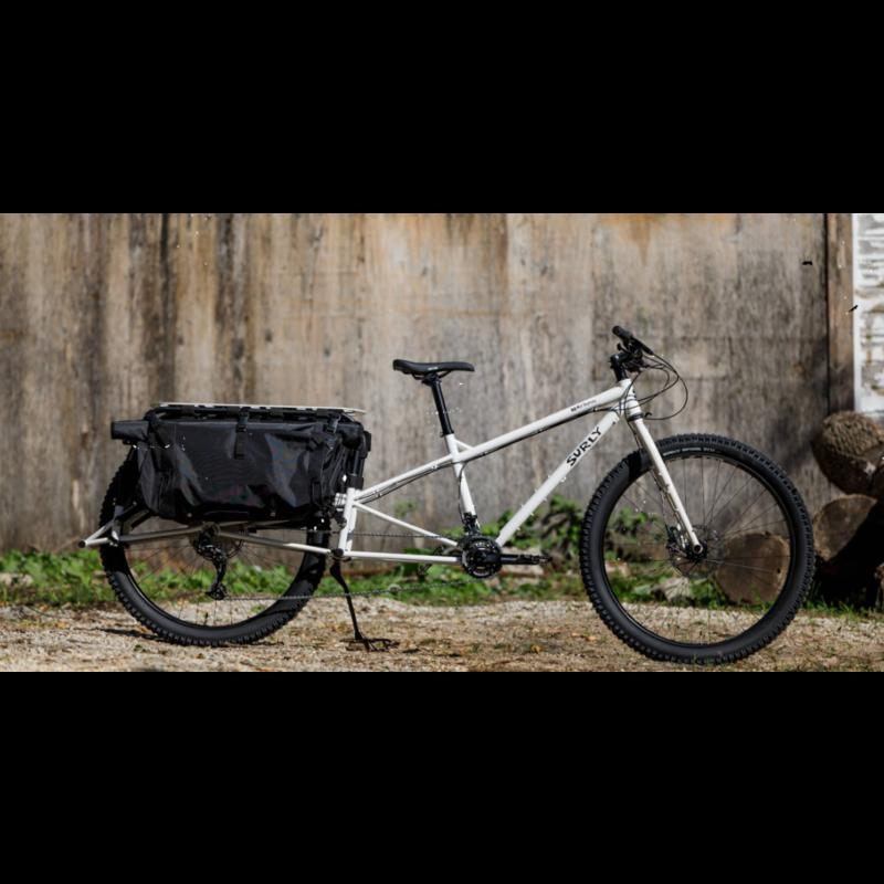 "Surly Surly Big Fat Dummy Cargo Bike - 29"", Steel, Thorfrost White, Large"