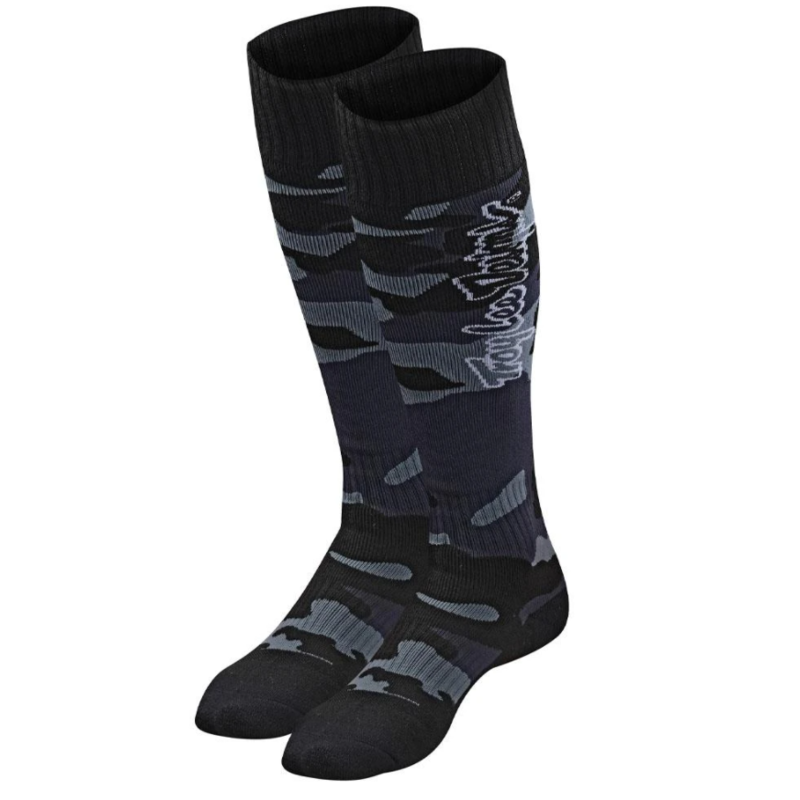 Troy Lee Designs Troy Lee Designs GP MX COOLMAX THICK SOCK; CAMO BLACK L/XL (10-13)