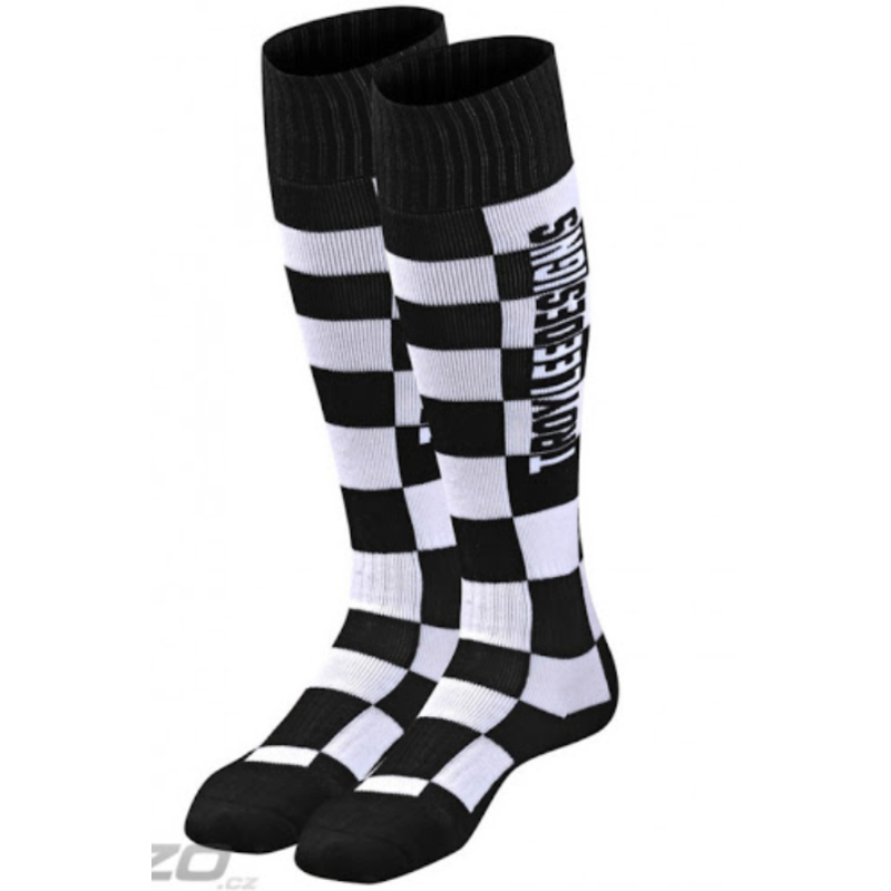Troy Lee Designs Troy Lee Designs GP MX COOLMAX THICK SOCK; CHECKERS BLACK
