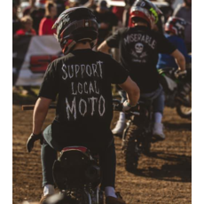 Miserable Clothing Co Miserable Support Local Moto Logo Tee