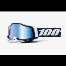 100% 100% RACECRAFT 2 Goggle Concordia - Mirror Blue Lens