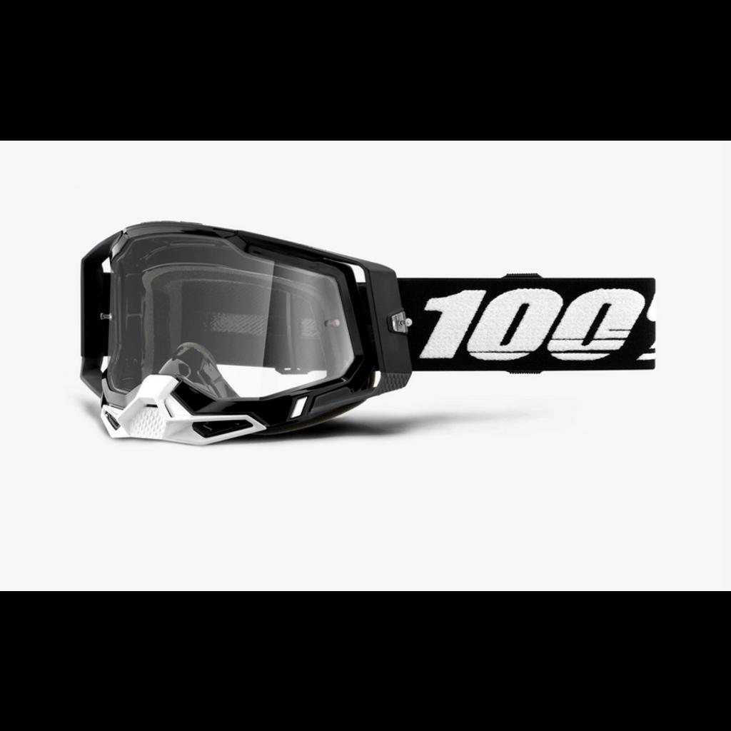 100% 100% RACECRAFT 2 Goggle Black - Clear Lens