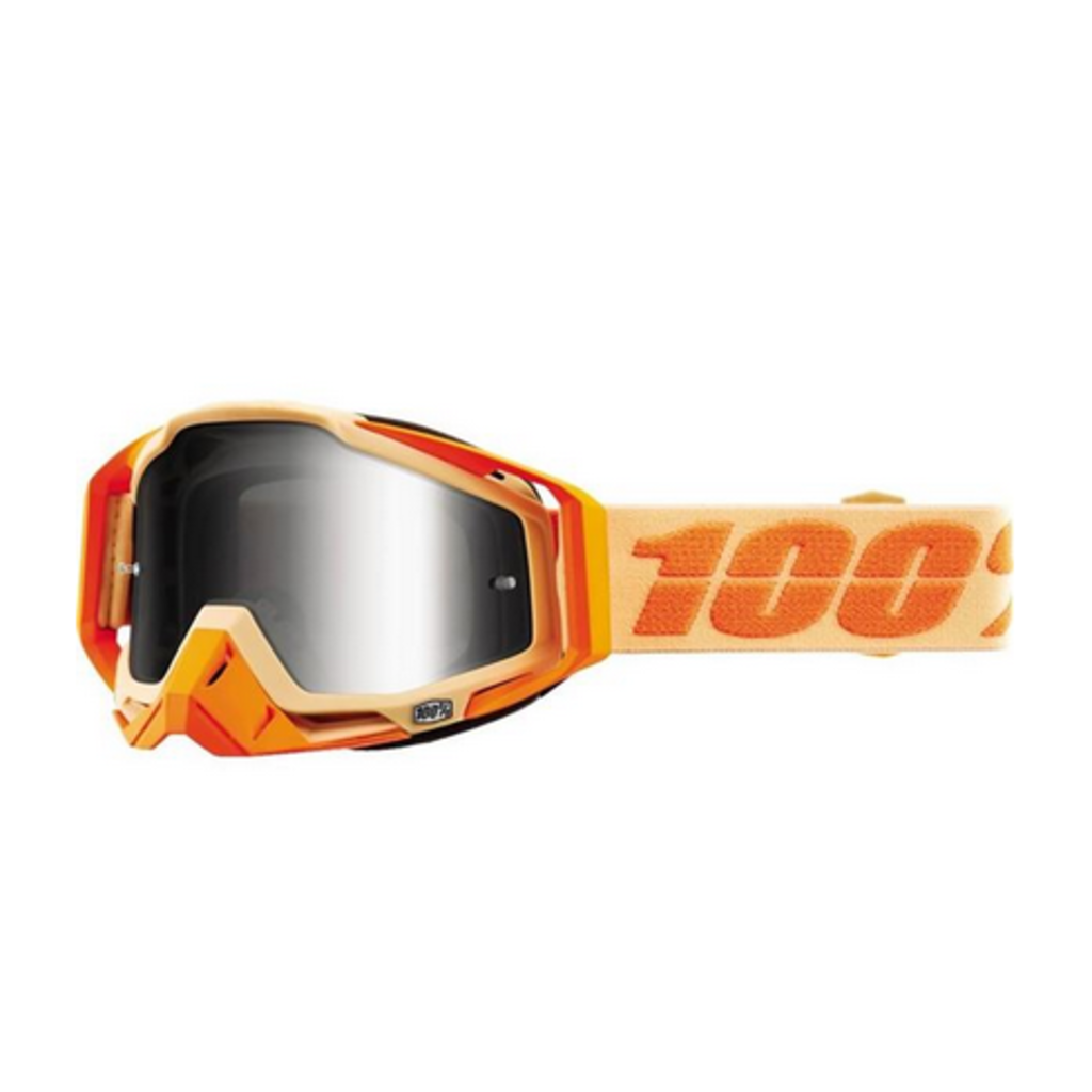 100% 100% RACECRAFT Goggle Sahara - Mirror Silver