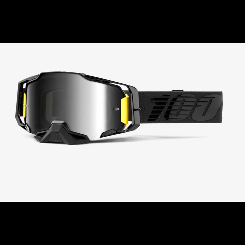 100% 100% ARMEGA Goggle Nightfall - Mirror Siver Lens