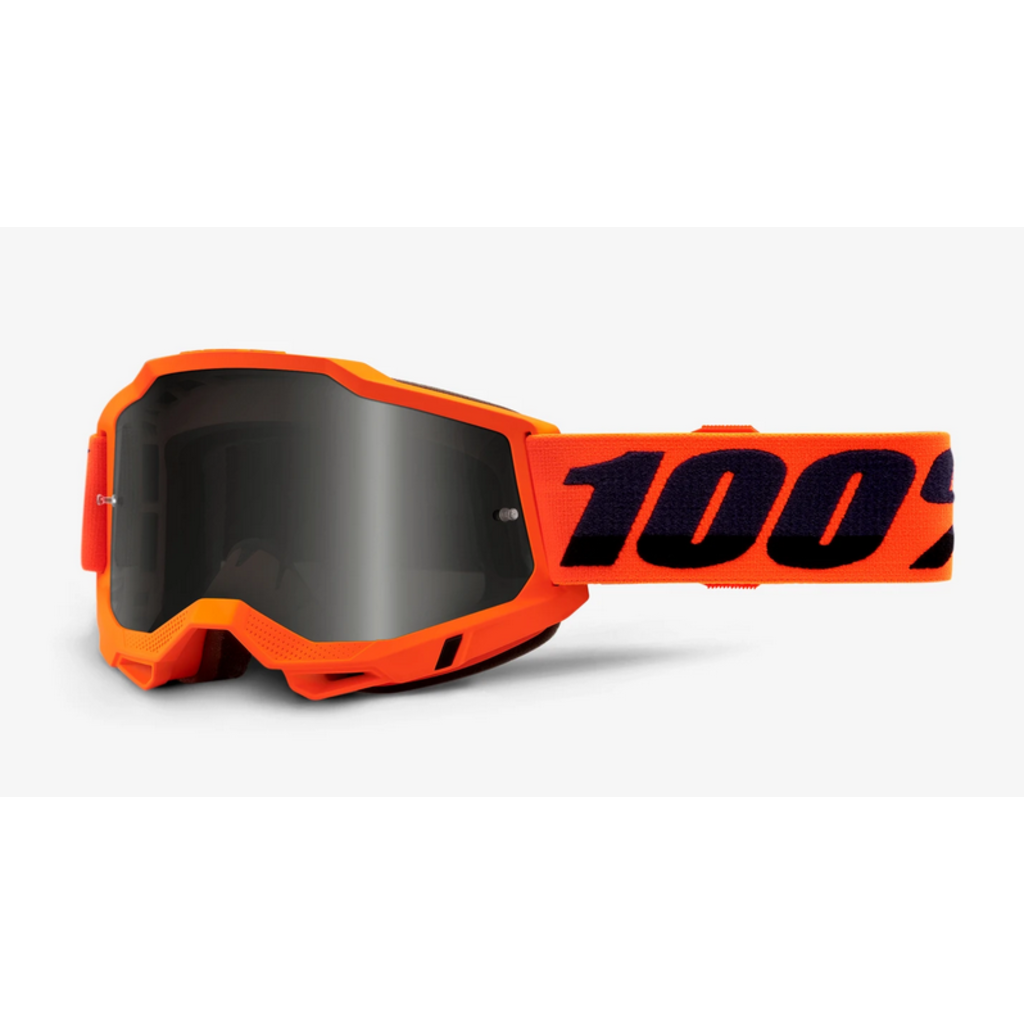 100% 100% ACCURI 2 Sand Goggle Neon Orange - Smoke Lens