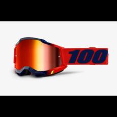 100% 100% ACCURI 2 Goggle Kearny - Mirror Red Lens